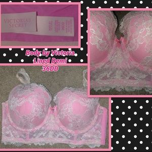 Body by Victoria Lined Demi Pushup Bra 36DD